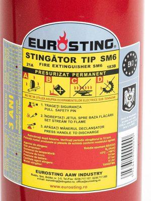 stingator eurosting tip sm6 - eticheta